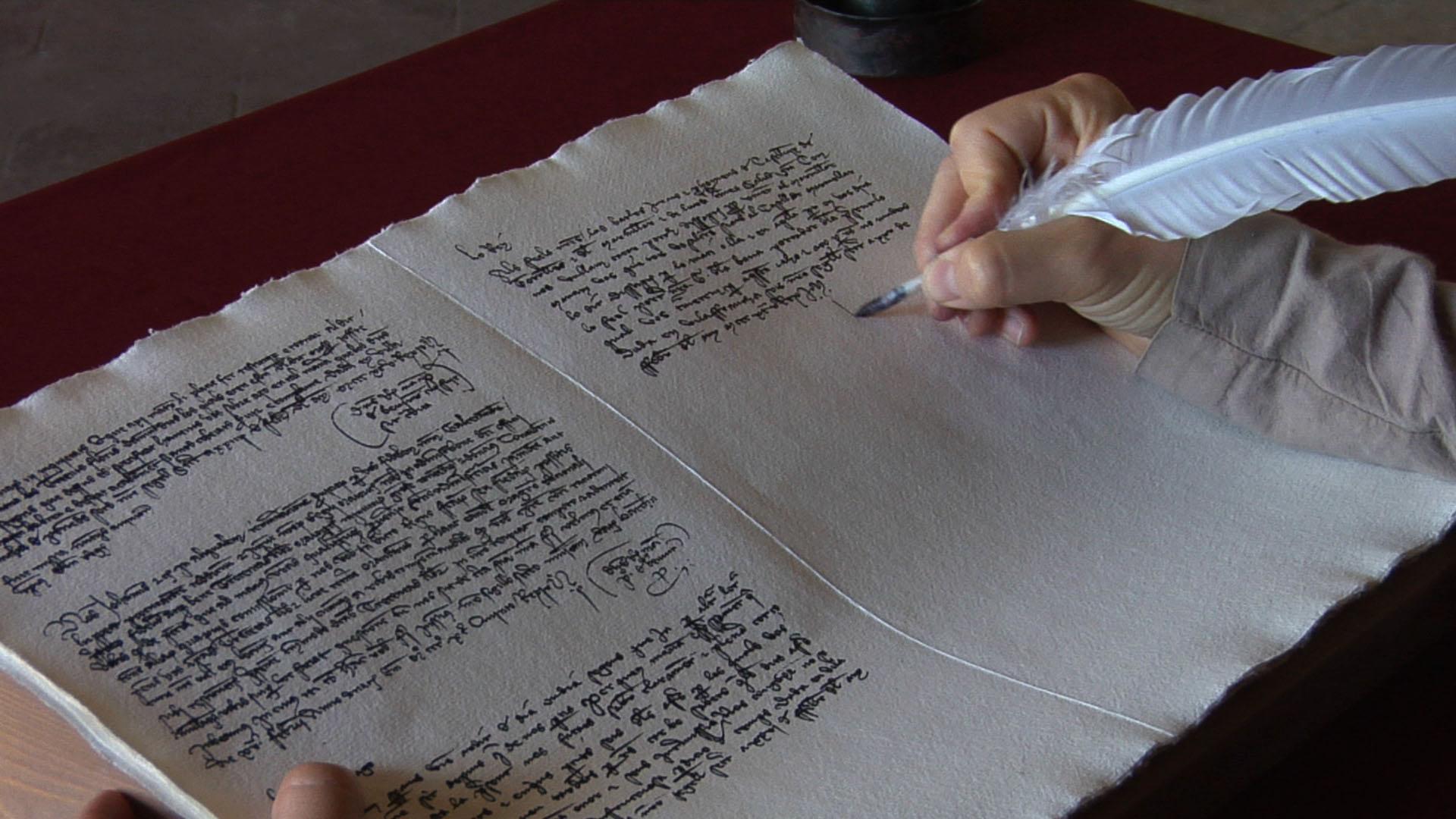 L'ajudant copia la carta