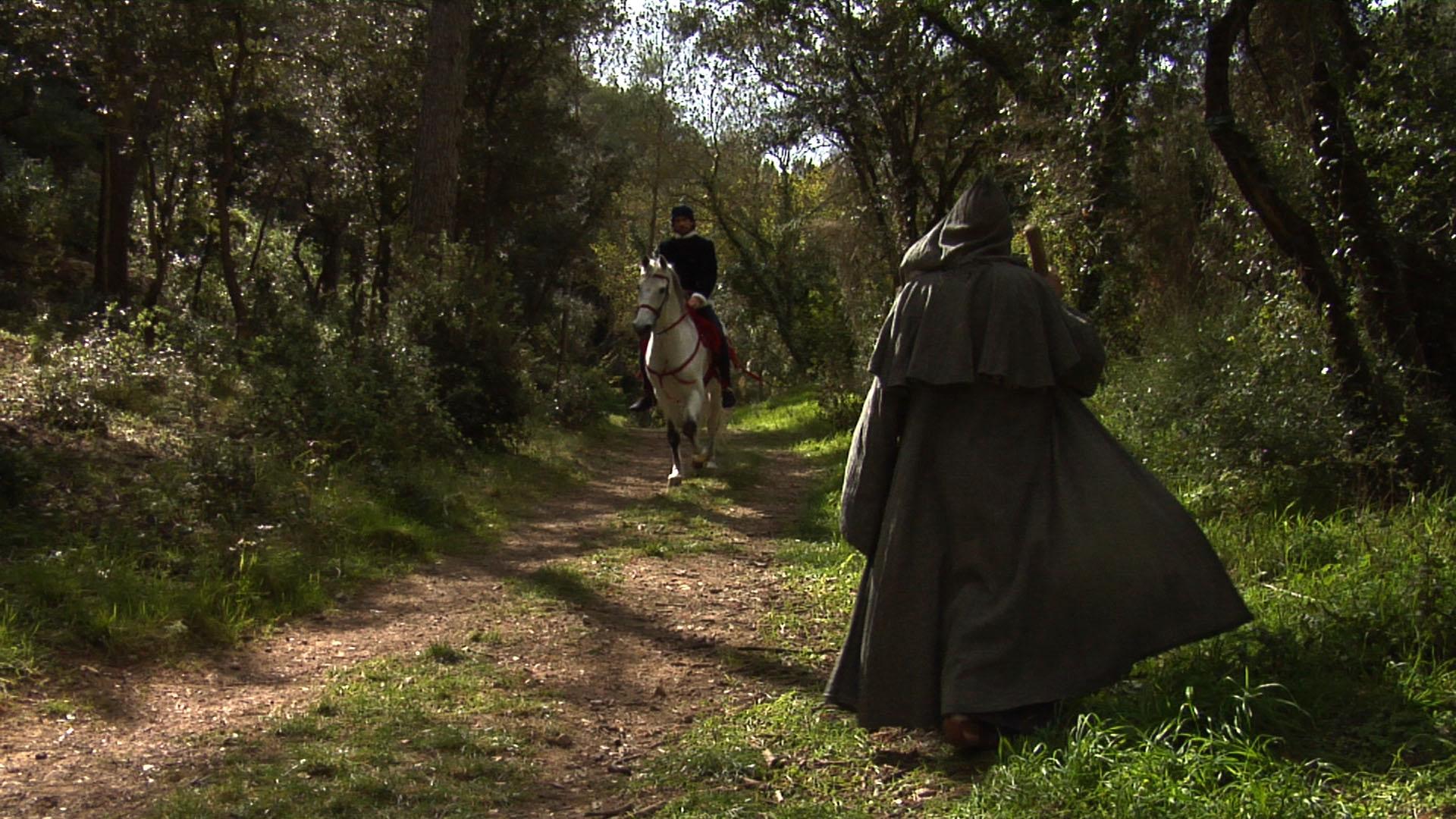 Guillem de la Bona es troba amb un pelegrí