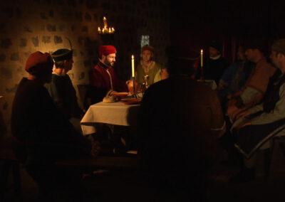 Rei, cavallers i prohoms al castell de Marmellar