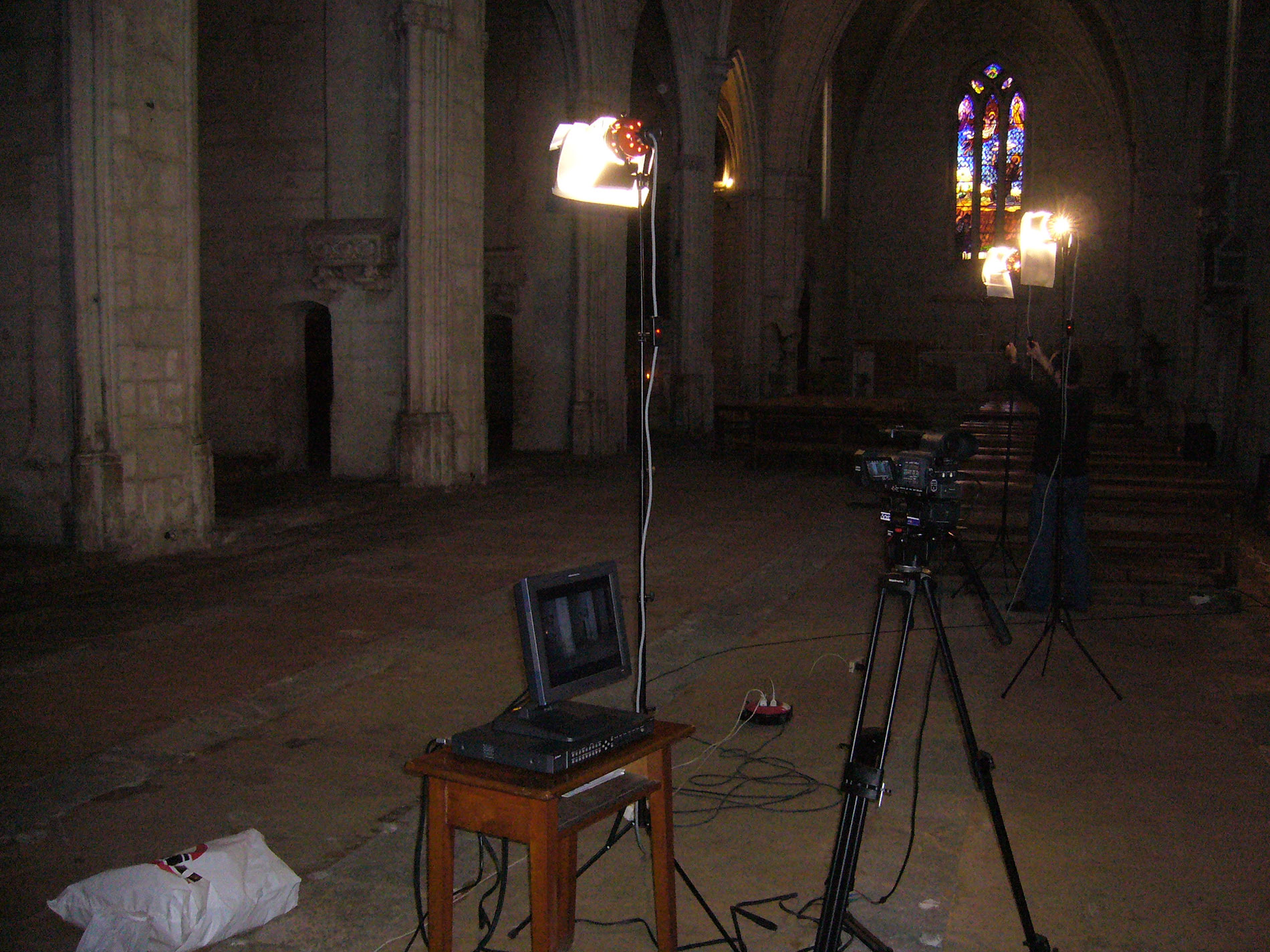 Rodatge a l'església de Sant Francesc de Vilafranca
